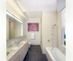 Bright Large 1 bedroom/1.5 bathroom in Soho. This loft like residence features an open Gourmet Kitchen with Bertazzoni Gas Range, High Ceilings, Spacious living/Dining area, fully vented Washer/Dryer, and Terrace with Soho views.
